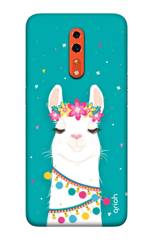 Adorable Llama Case Oppo Reno Z Cases & Covers Online
