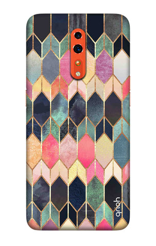 Colorful Brick Pattern Case Oppo Reno Z Cases & Covers Online