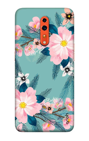 Graceful Floral Case Oppo Reno Z Cases & Covers Online