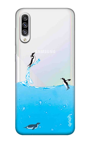 Penguins In Water Samsung Galaxy A30s Cases & Covers Online