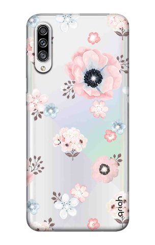 Beautiful White Floral Samsung Galaxy A30s Cases & Covers Online