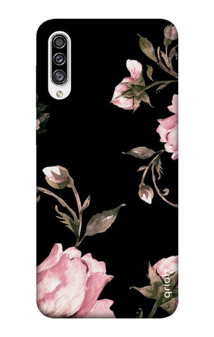 Pink Roses On Black Samsung Galaxy A30s Cases & Covers Online
