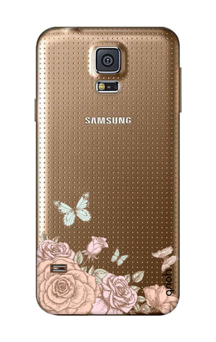 Flower And Butterfly Samsung S5 Cases & Covers Online