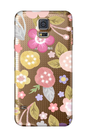 Multi Coloured Bling Floral Samsung S5 Cases & Covers Online
