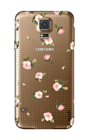 Pink Rose All Over Samsung S5 Cases & Covers Online