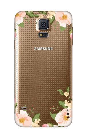 Flower In Corner Samsung S5 Cases & Covers Online