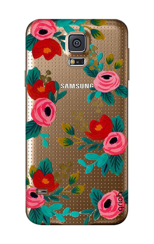 Red Floral Samsung S5 Cases & Covers Online