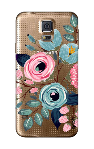Pink And Blue Floral Samsung S5 Cases & Covers Online