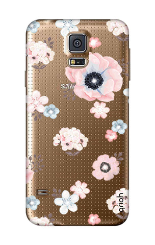 Beautiful White Floral Samsung S5 Cases & Covers Online