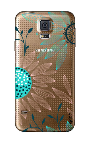 Pink And Blue Petals Samsung S5 Cases & Covers Online