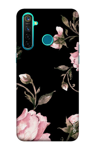 Pink Roses On Black Realme 5 Pro Cases & Covers Online
