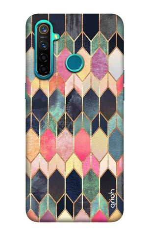 Colorful Brick Pattern Case Realme 5 Pro Cases & Covers Online
