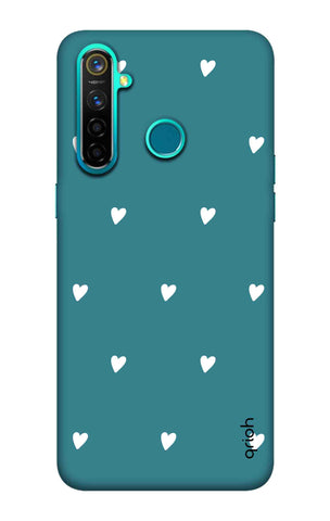 Mini White Hearts Case Realme 5 Pro Cases & Covers Online