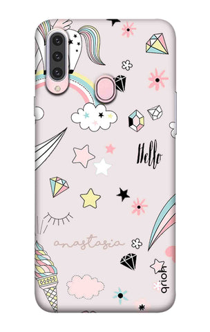 Unicorn Doodle Samsung Galaxy A20s Cases & Covers Online