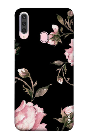 Pink Roses On Black Samsung Galaxy A20s Cases & Covers Online