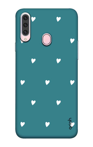 Mini White Hearts Case Samsung Galaxy A20s Cases & Covers Online