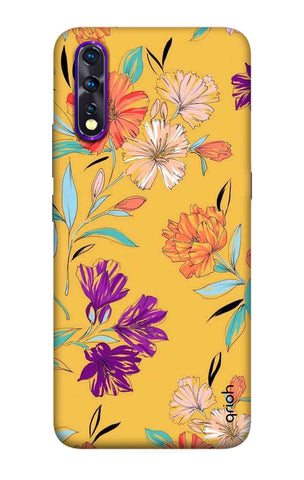 Illustrated Floral Case Vivo Z1X Cases & Covers Online