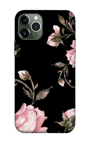 Pink Roses On Black iPhone 11 Pro Cases & Covers Online