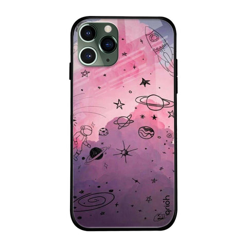 Space Doodles iPhone 11 Pro Max Glass Cases & Covers Online