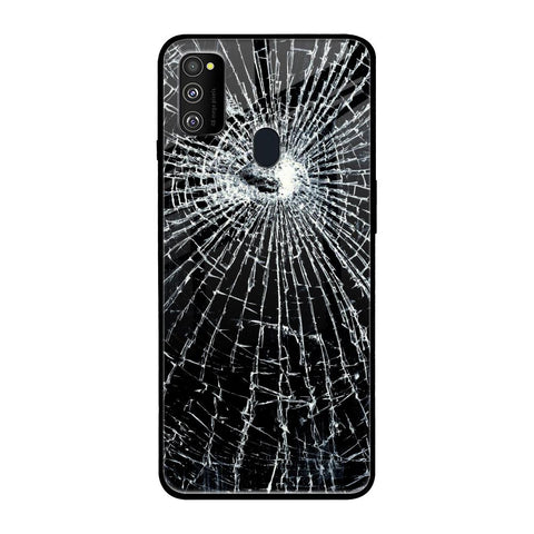 Cracked Design Samsung Galaxy M30s Glass Cases & Covers Online