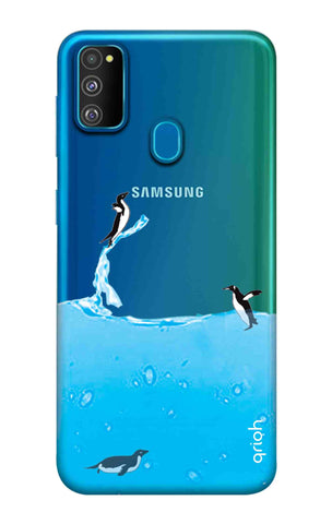 Penguins In Water Samsung Galaxy M30s Cases & Covers Online