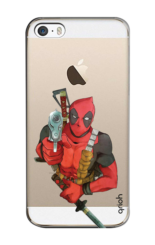 low priced 662e6 1ab5a Deadpool Warrier Case for iPhone 5S