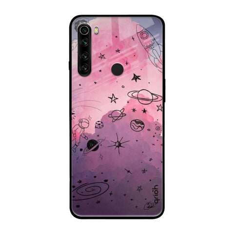 Space Doodles Xiaomi Redmi Note 8 Glass Cases & Covers Online