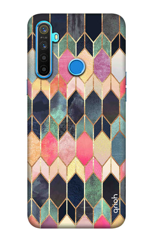 Colorful Brick Pattern Case Realme 5 Cases & Covers Online
