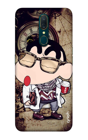 Nerdy Shinchan Oppo A9 Cases & Covers Online