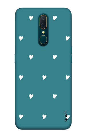 Mini White Hearts Case Oppo A9 Cases & Covers Online