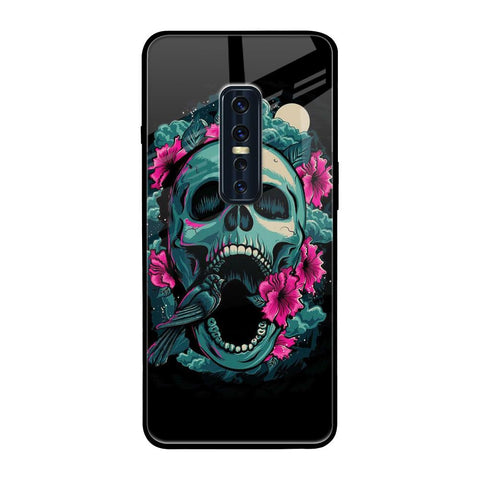 Colorful skull Texture Vivo V17 Pro Glass Cases & Covers Online