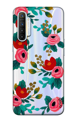 Red Floral Realme XT Cases & Covers Online