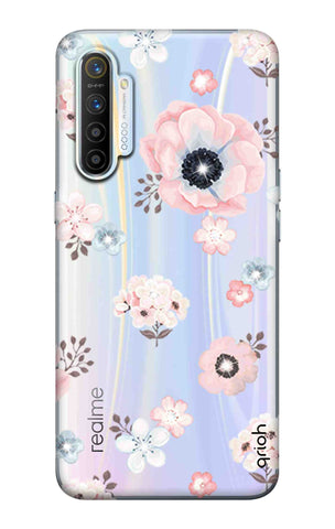 Beautiful White Floral Realme XT Cases & Covers Online