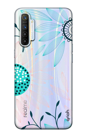 Pink And Blue Petals Realme XT Cases & Covers Online