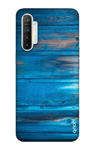 Blue Wooden Realme XT Cases & Covers Online