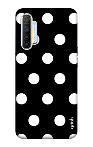 White Polka On Black Realme XT Cases & Covers Online
