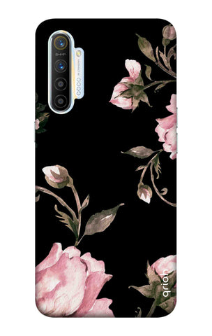 Pink Roses On Black Realme XT Cases & Covers Online