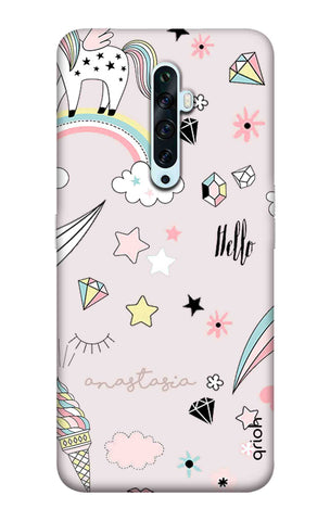 Unicorn Doodle Oppo Reno 2 Cases & Covers Online