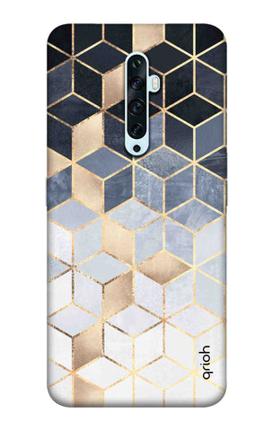 Cubical Pattern Case Oppo Reno 2 Cases & Covers Online