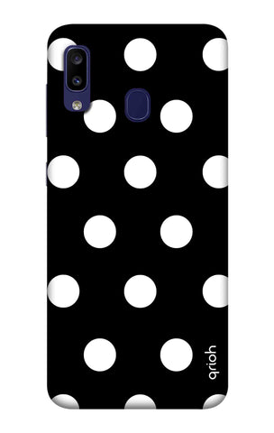 White Polka On Black Samsung Galaxy M10s Cases & Covers Online