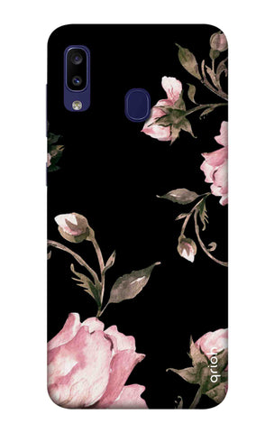 Pink Roses On Black Samsung Galaxy M10s Cases & Covers Online