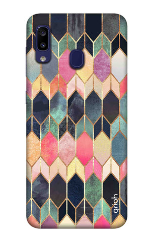 Colorful Brick Pattern Case Samsung Galaxy M10s Cases & Covers Online