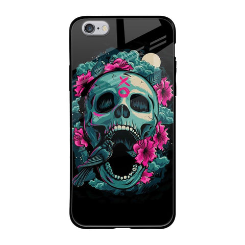 Colorful skull Texture iPhone 6s Glass Cases & Covers Online