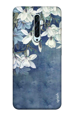 White Flower Oppo Reno2 F Cases & Covers Online