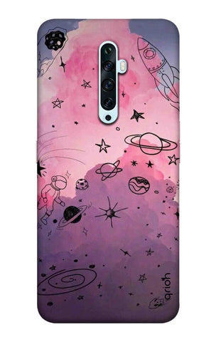 Space Doodles Art Oppo Reno2 F Cases & Covers Online