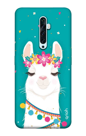 Cute Llama Oppo Reno2 F Cases & Covers Online
