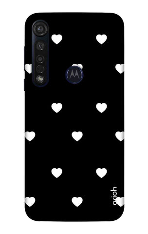 White Heart Motorola Moto G8 Plus Cases & Covers Online
