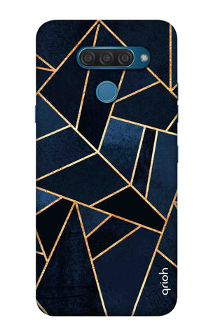 Abstract Navy LG Q60 Cases & Covers Online