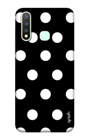 White Polka On Black Vivo Y19 Cases & Covers Online