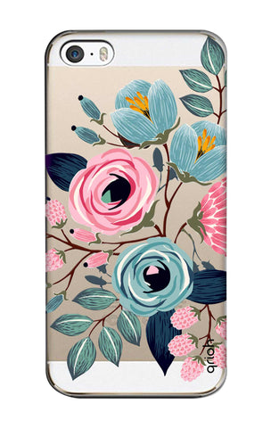 Pink And Blue Floral iPhone SE Cases & Covers Online
